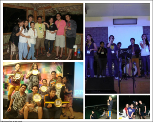 2012 Worship Team Retreat Collage