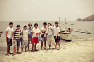 Group Picture in Anawangin Beach