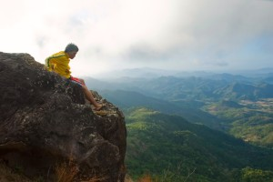 Me on a cliff (Mt. Pico de Loro)