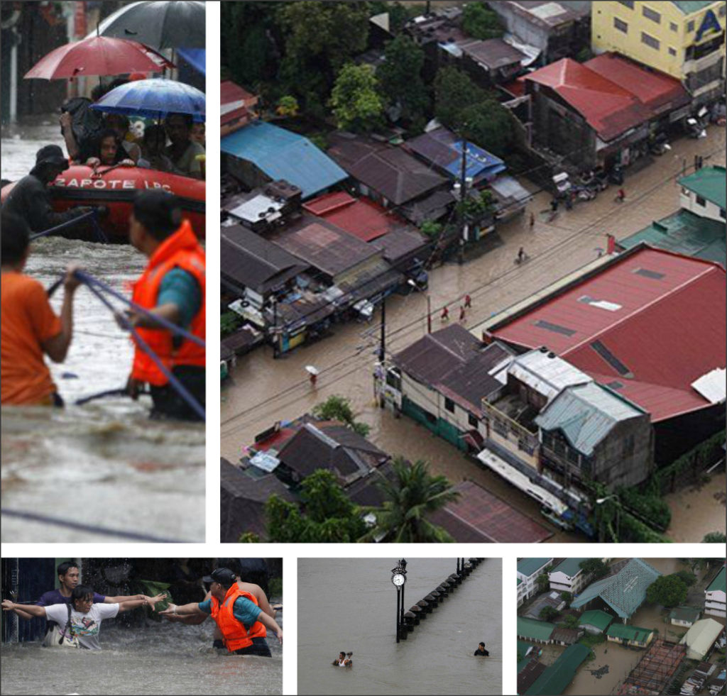 Snapshots of the flood by Maring