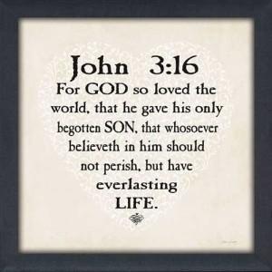 John 3:16 - For God so Loved the World