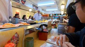Revolving Sushi Restaurant in Tsukiji Market